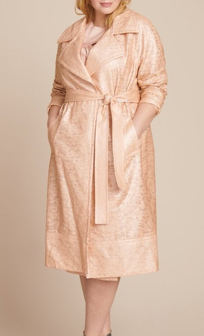 Laminated Lace Trenchcoat