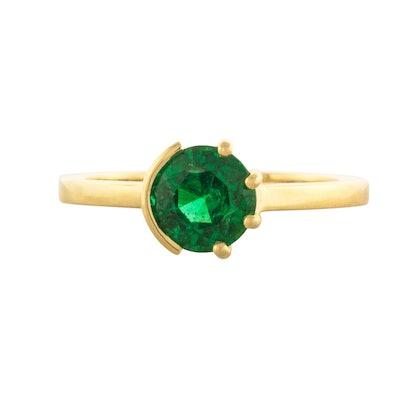 Sun & Moon Emerald Ring