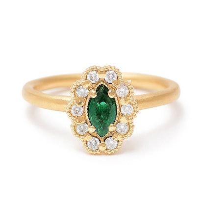 Megan Thorne Mosaic Marquise Ring