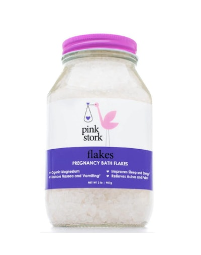 Pink Stork Flakes: Pregnancy Bath Flakes
