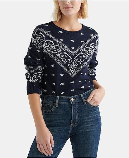 Bandana-Print Sweater