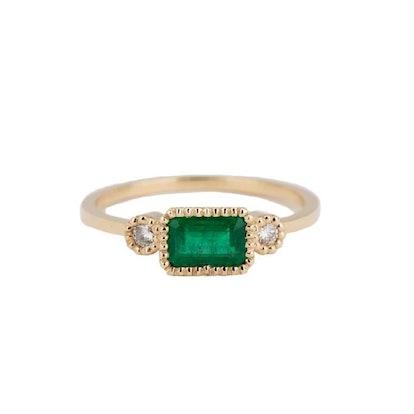Emerald Lexie Ring