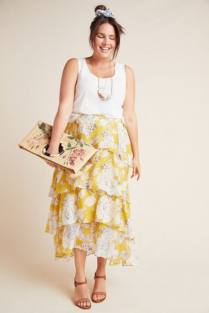 Maeve Mosier Tiered Maxi Skirt
