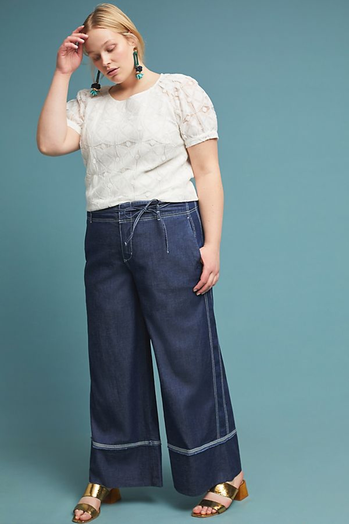 Pilcro Ultra High-Rise Wide-Leg Jeans
