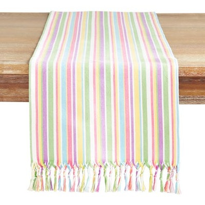 Easter Bright Striped Table Runner