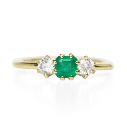 ILA Gramo Ring, Emerald And Diamond