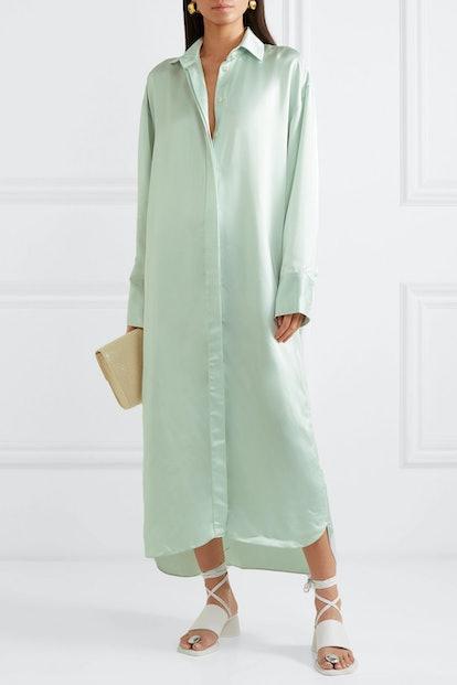 Oversized Satin Dress
