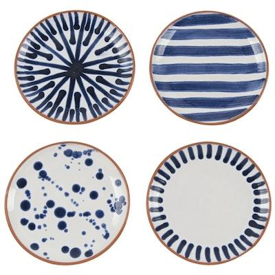 Shibori Assorted Porto Appetizer Plates (Set of 4)