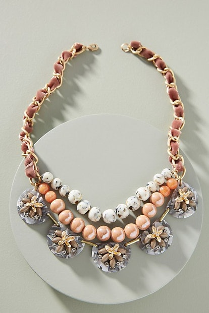 Anne Floral Bib Necklace