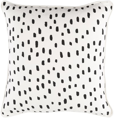 Dalmatian Pillow, Black