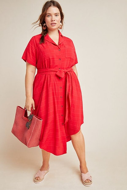 Maeve Arno Textured Shirtdress