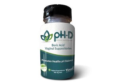 pH-D Feminine Health Support Boric Acid Vaginal Suppositories