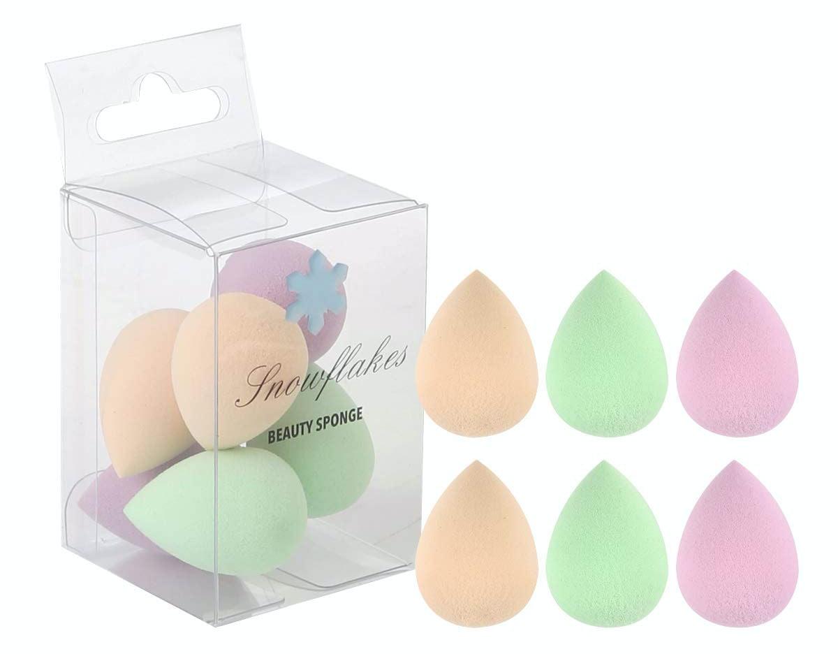 Snowflakes Beauty Sponge Makeup Blender Set (6 Pack)