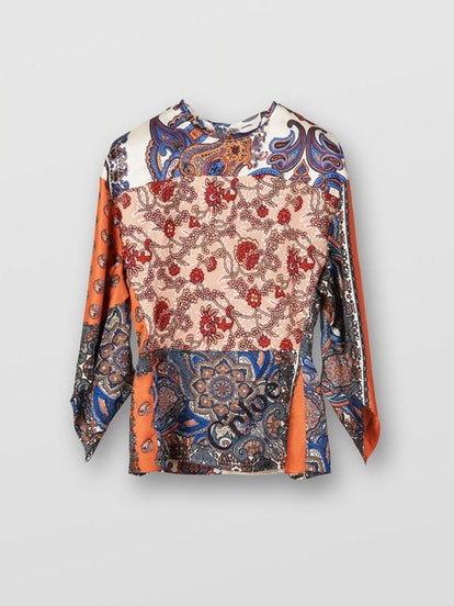 Pointed-Sleeve Top