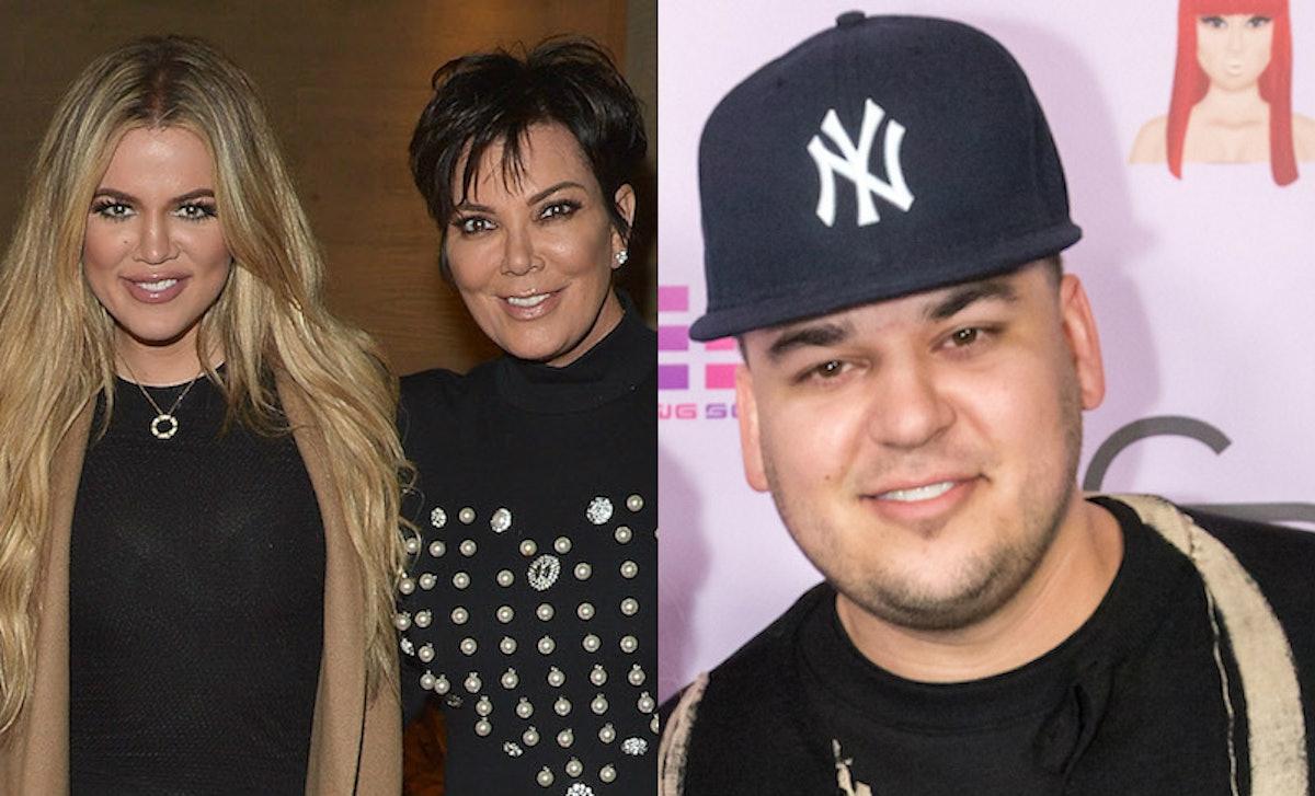 Khloe Kardashian & Kris Jenner's Birthday Posts For Rob Feature Sweet Throwback Photos
