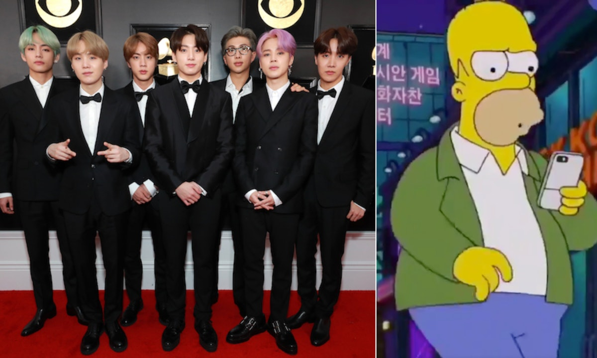 This Video Of BTS' Cameo On 'The Simpsons' Is So Subtle, You Probably Missed It