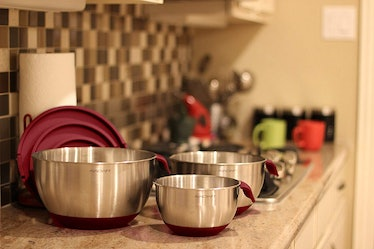 AVACRAFT Stainless Steel Mixing Bowl Set With Lids  (6 Pieces)
