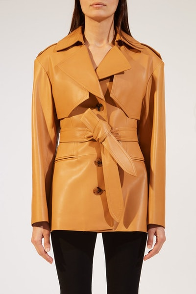 The Billy Trench in Cognac Leather