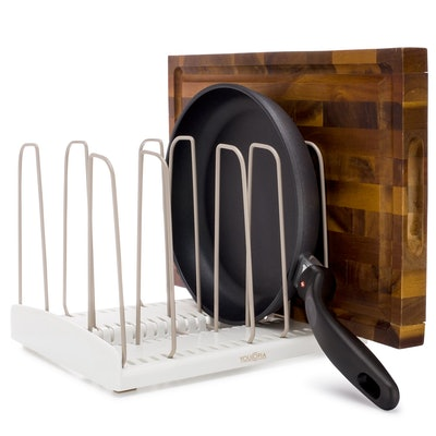 YouCopia StoreMore Adjustable Cookware Rack Pan Organizer