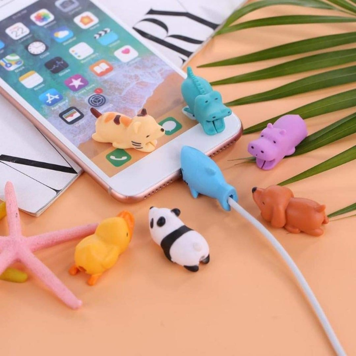 Animal Buddies Phone Cord Bites (13 Pieces With Pouch)