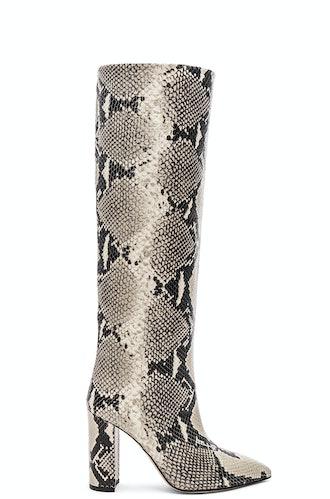 Knee-High Snake Boot