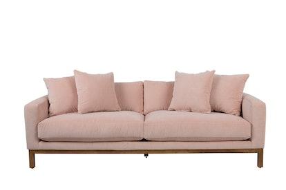 Maxwell Velvet Sofa, Pink