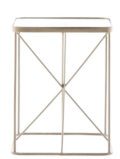 Kiernan End Table, Antique Brass