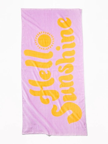 Printed Terry-Cloth Beach Towel