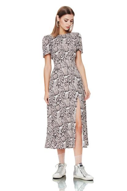 Lala High-Neck Midi Dress