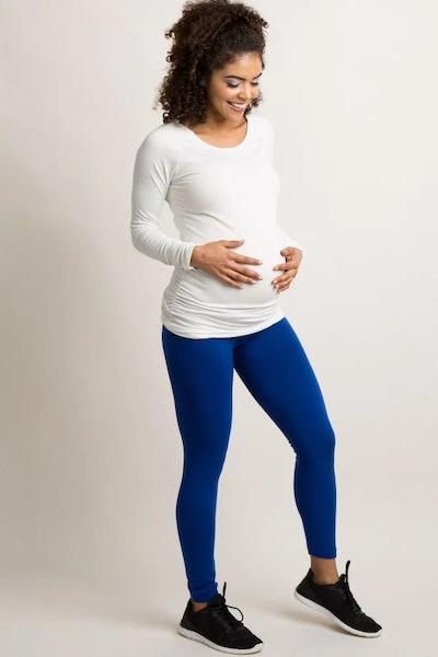 Pink Blush Maternity Leggings