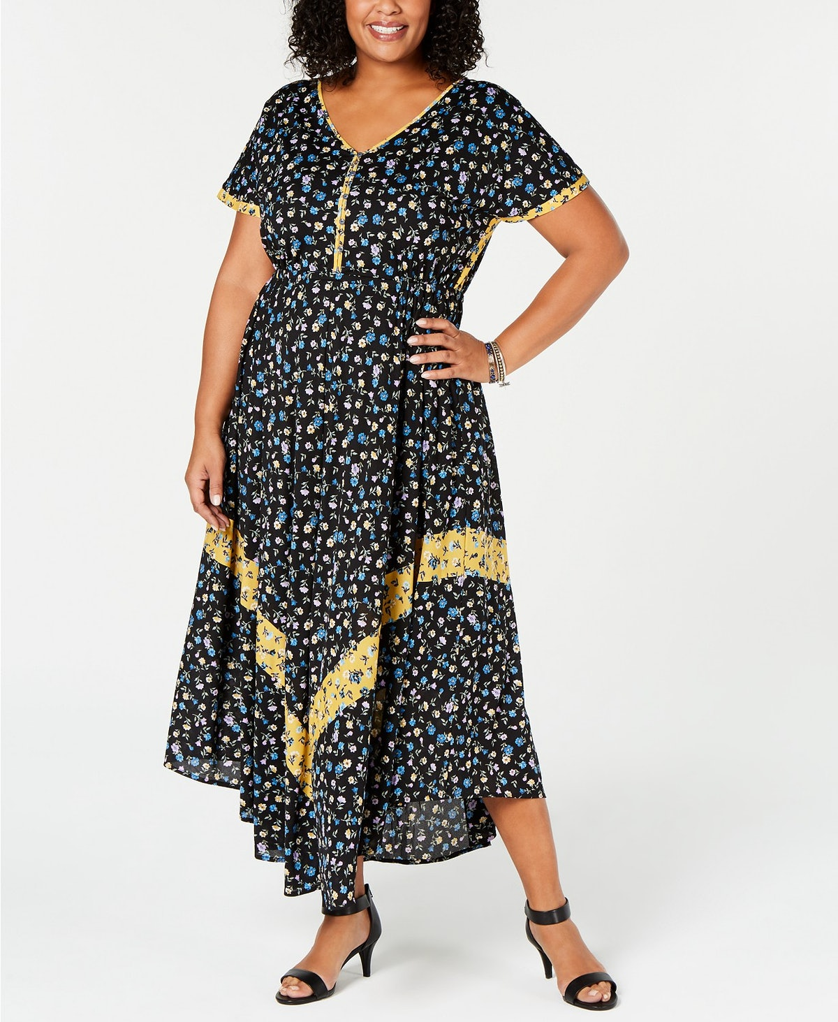 Style & Co Plus Size Floral-Print Maxi Dress, Created for Macy's