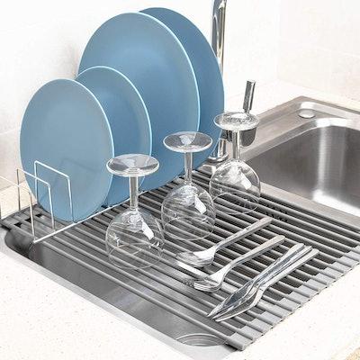 SANNO Foldable Dish Rack