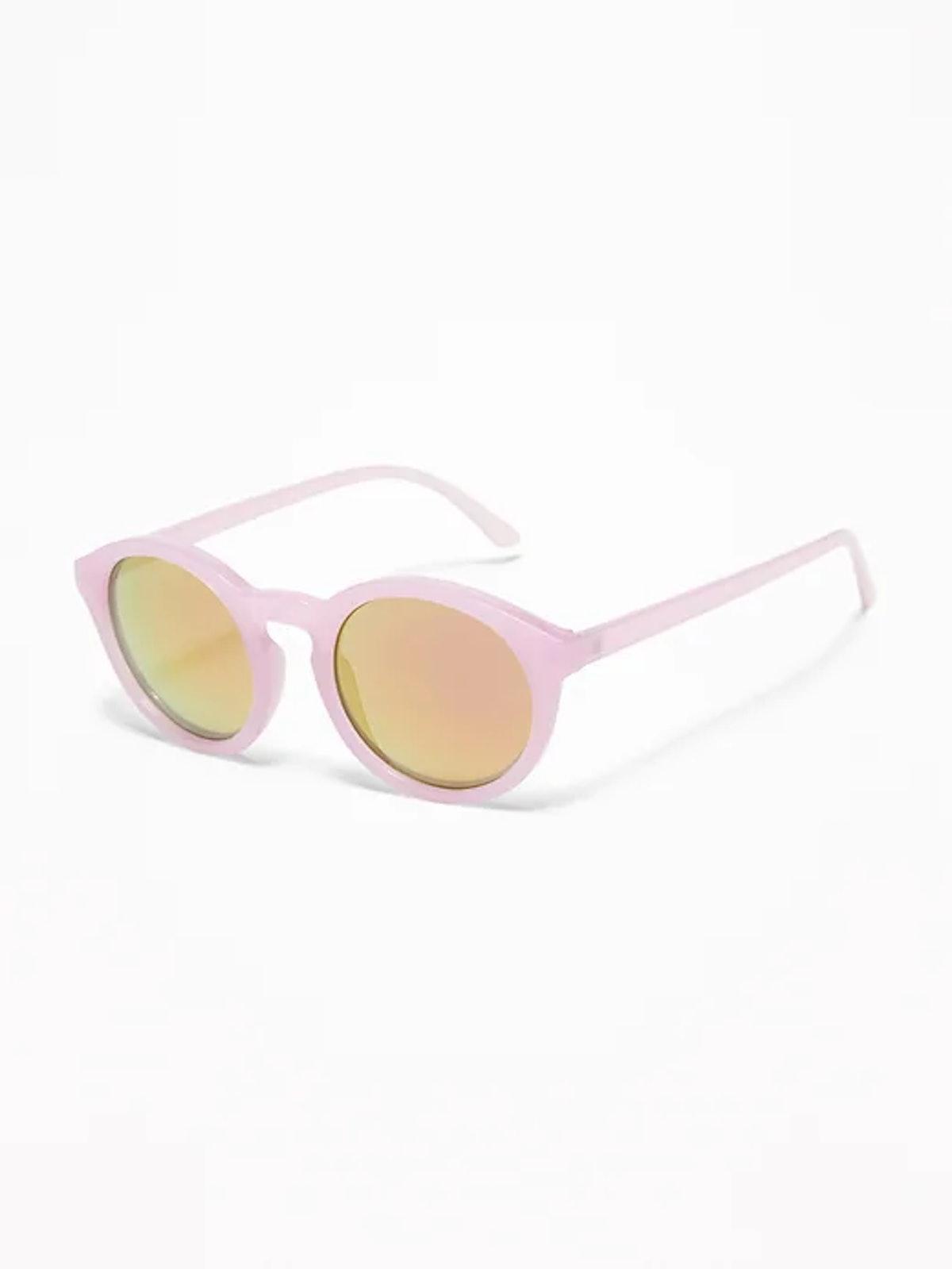 Round Color-Frame Sunglasses for Women