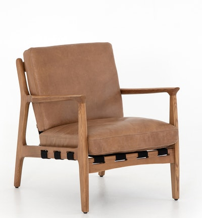 Kenneth Leather Chair, Copper