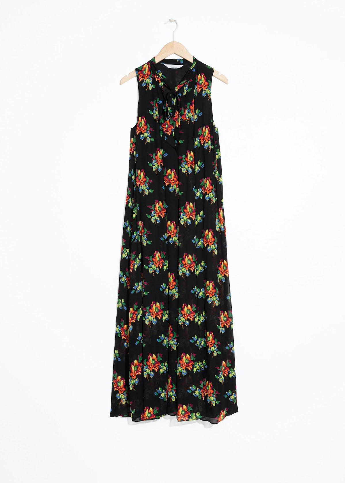 Pussy Bow Maxi Dress
