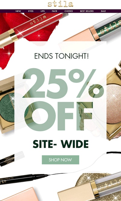 Stila 25% Sitewide