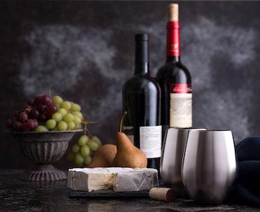 Modern Innovations Stainless Steel Wine Glasses (4 Pack)