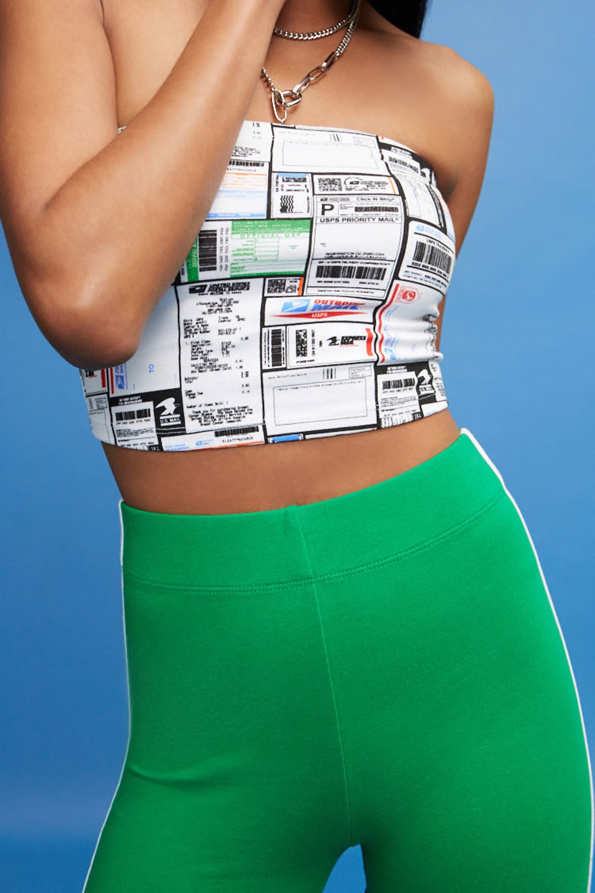 Label Cropped Tube Top
