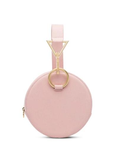 Pink Azar Leather Bracelet Bag