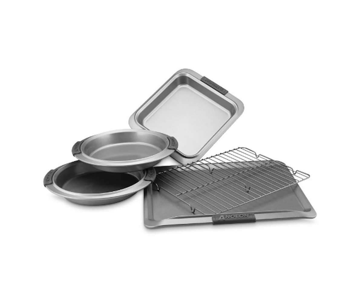 Advanced Nonstick 5-Piece Bakeware Set with Silicone Grips