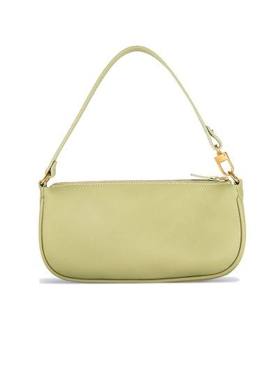 Rachel Sage Green Leather Bag