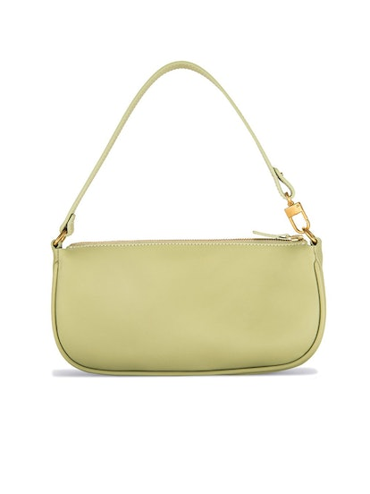 Rachel Sage Green Leather Bag
