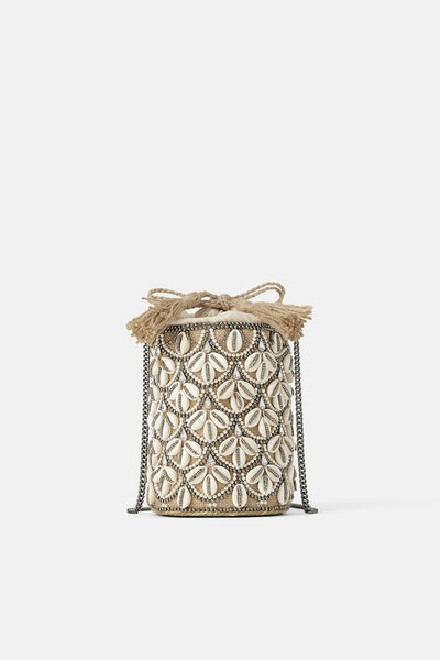 Seashell Crossbody Basket Bag