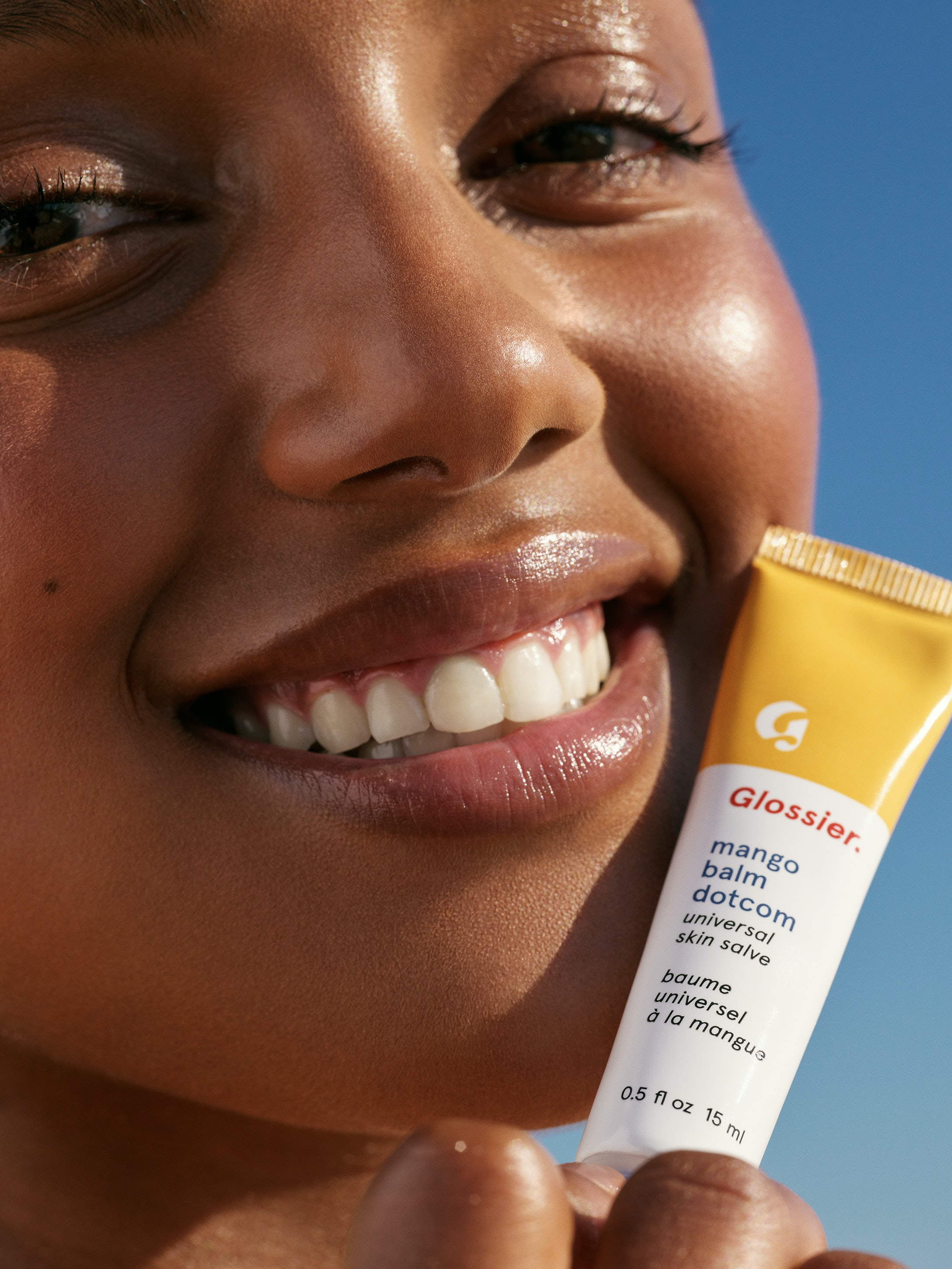 Glossiers New Mango Balm Dotcom Flavor Is Very Summery