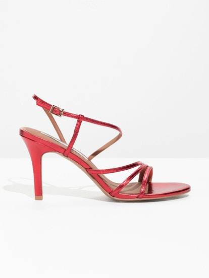 Studded Strappy Stiletto Heels