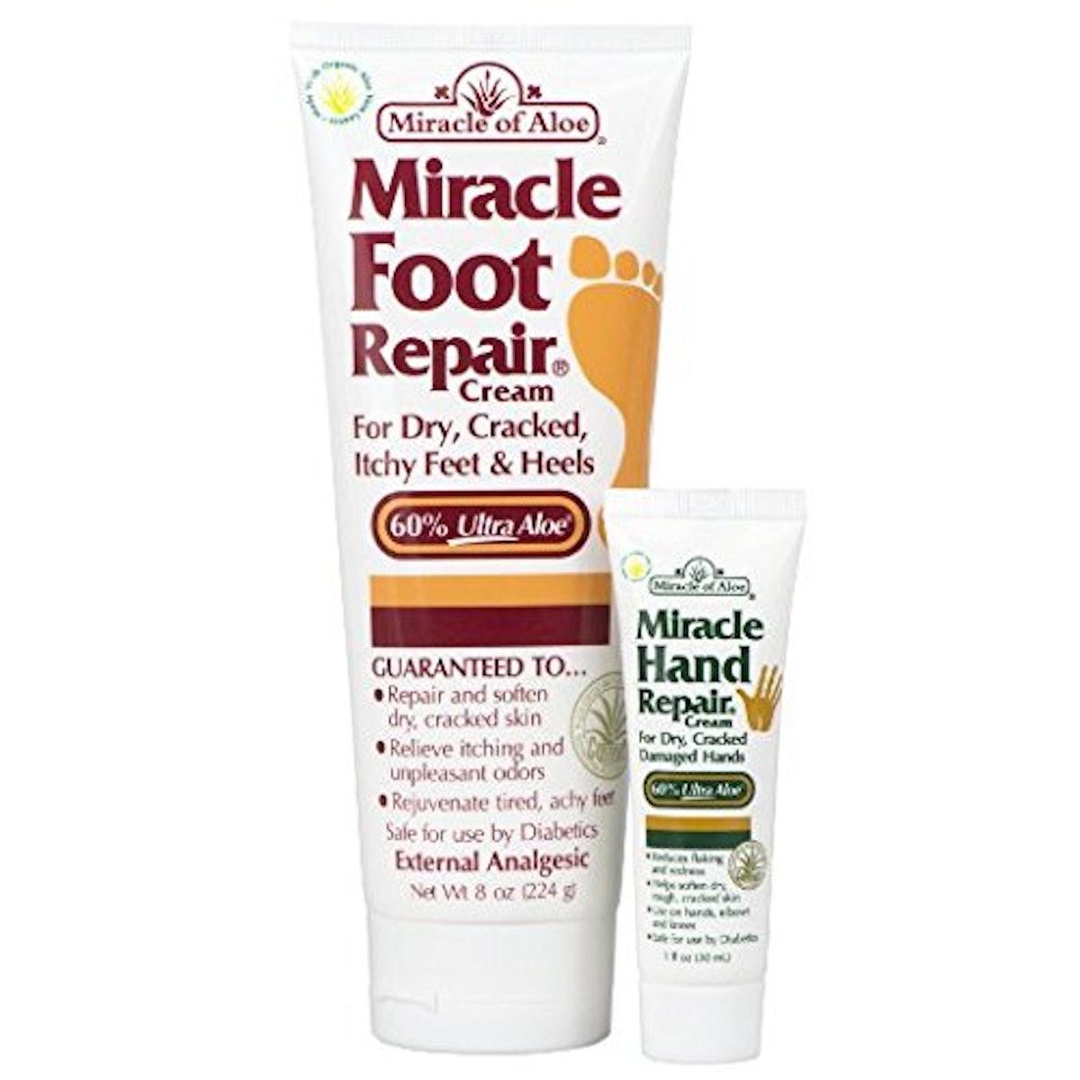 Miracle Foot Repair Cream Plus Miracle Hand Repair Cream