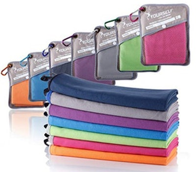 SYOURSELF Microfiber Sports & Travel Towel (2 Pack)
