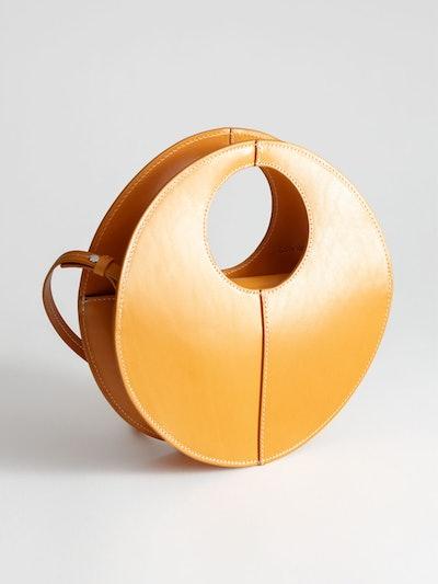 Structured Circle Crossbody Bag