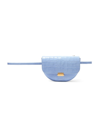 Anna Croc-Effect Leather Belt Bag