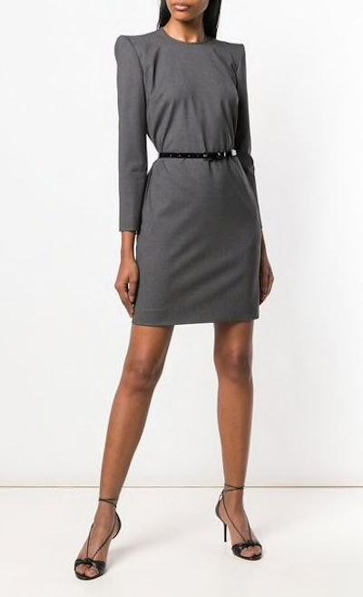 Longsleeved Belted Dress